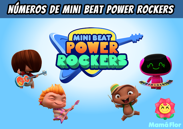 Mini Beat Power Rockers: Números para Decorar