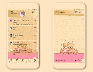 Teddy Bear Caupal Theme For YOWhatsApp & Fouad WhatsApp By Mary Silva