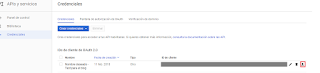 Descarga de credenciales del API de Gmail