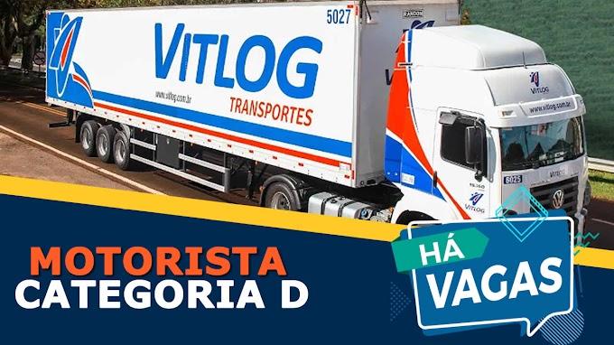 Transportadora Vitlog abre vagas para motorista categoria D
