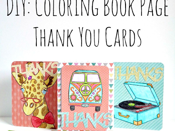 DIY: Coloring Book Page Thank You Cards