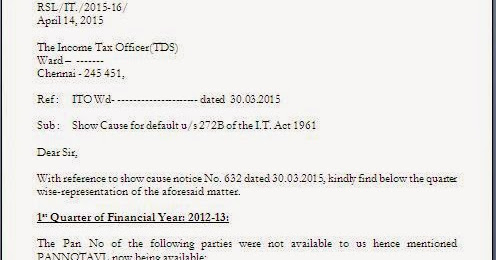 income tax notice reply letter format for pan update in return
