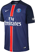 9356d9588 The new Nike PSG 2015-2016 Jerseys introduce clean designs for the French  Ligue 1 club. The PSG Home Jersey is dark blue