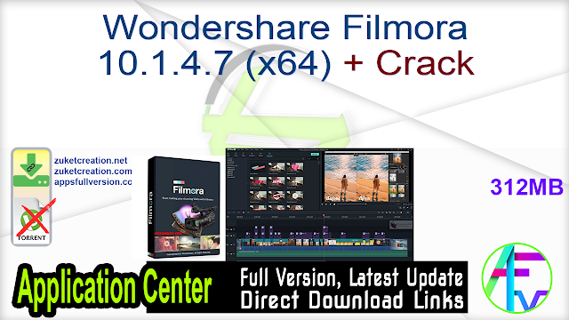 Wondershare Filmora 10.1.4.7 (x64) + Crack