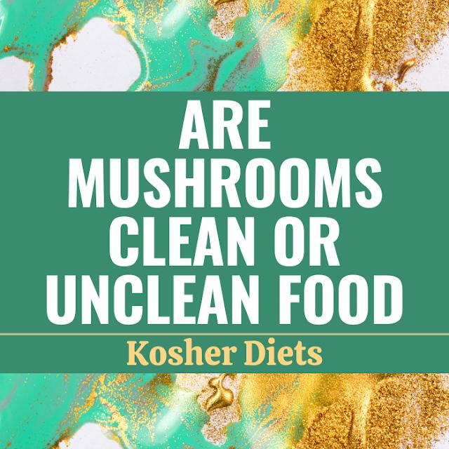 Are Mushrooms Clean Or Unclean Food | Kosher Diets