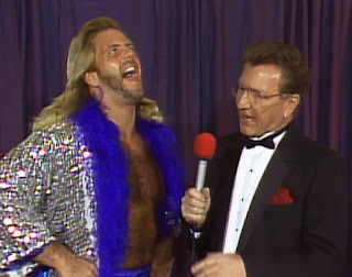 NWA Wrestlewar 1989 - Michael P.S Hayes talks to Lance Russell about his title match against Lex Luger