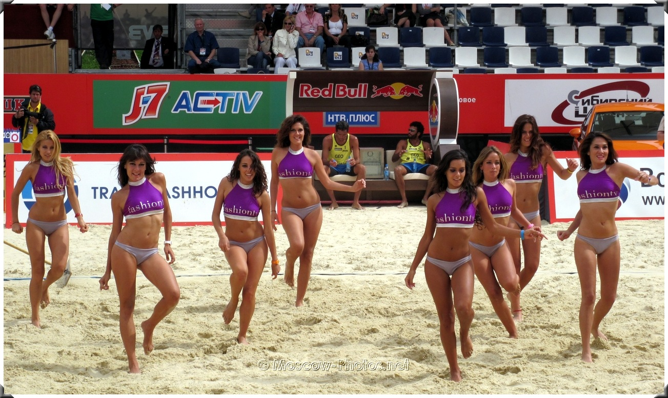 Beach volleyball dancing summer tanned girls