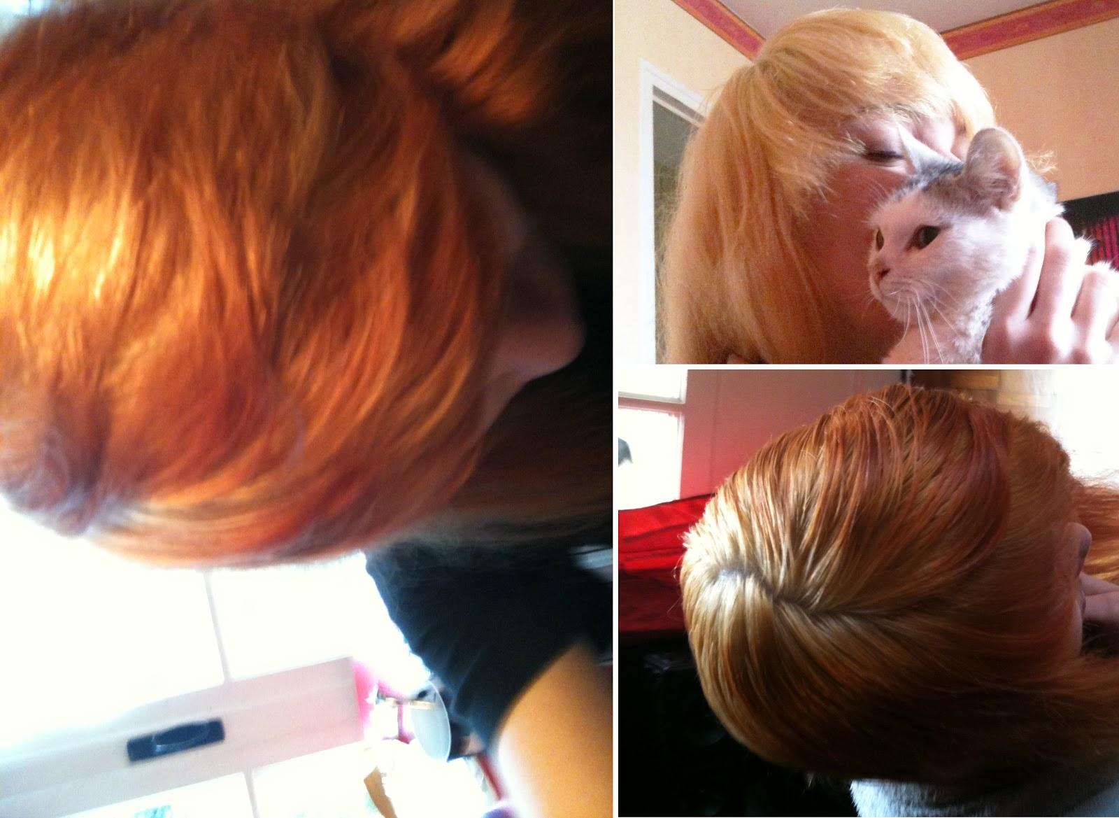 shampoing bleu sur cheveux roux