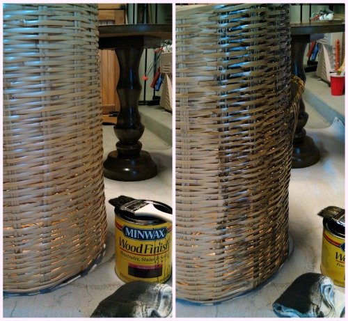 Focal Point Styling Diy How To Stain A Wicker Basket