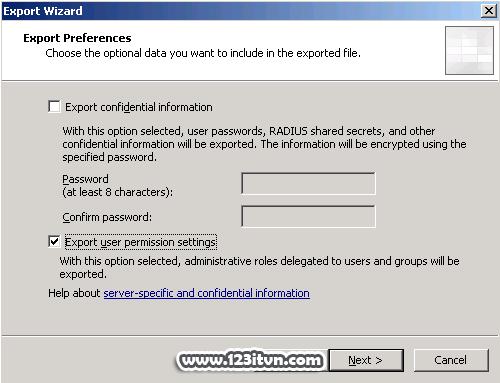 Sao lưu và phục hồi dữ liệu trên ISA Server