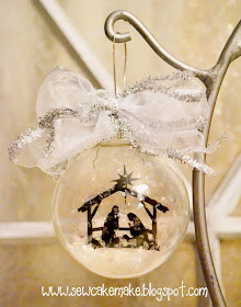 Nativity Glass Ornament Tutorial by Sew Cake Make