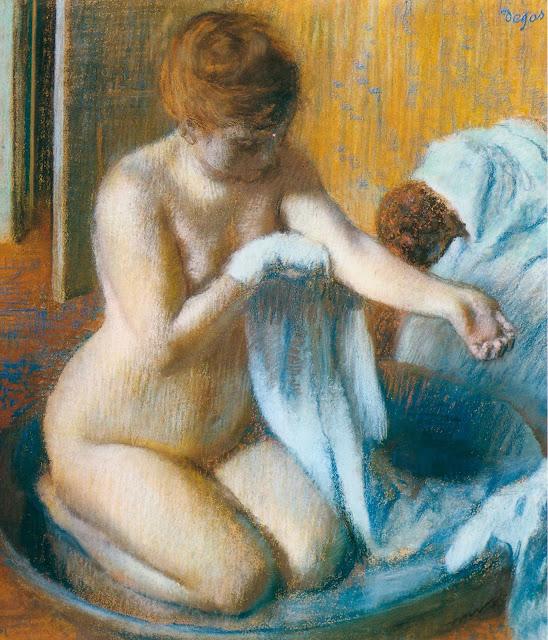 Эдгар Дега - После купания (1885-1886)