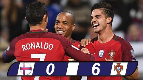 Bồ Đào Nha chiến thắng Đảo Faroe với tỉ số áp đảo 6-0.
