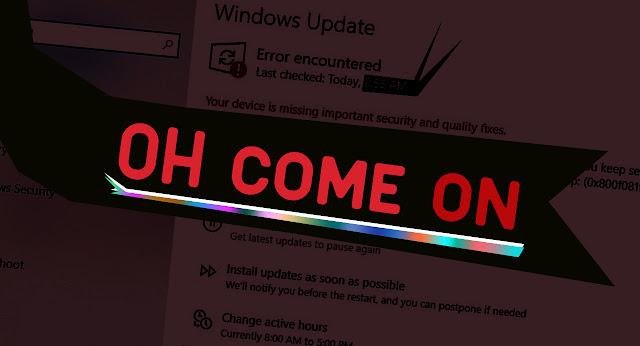 Windows 10 güncelleme hatası sorunları bugün