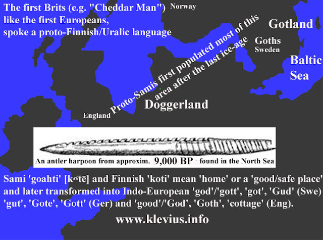 Native Brits from Doggerland spoke a proto-Finnish/Uralic language