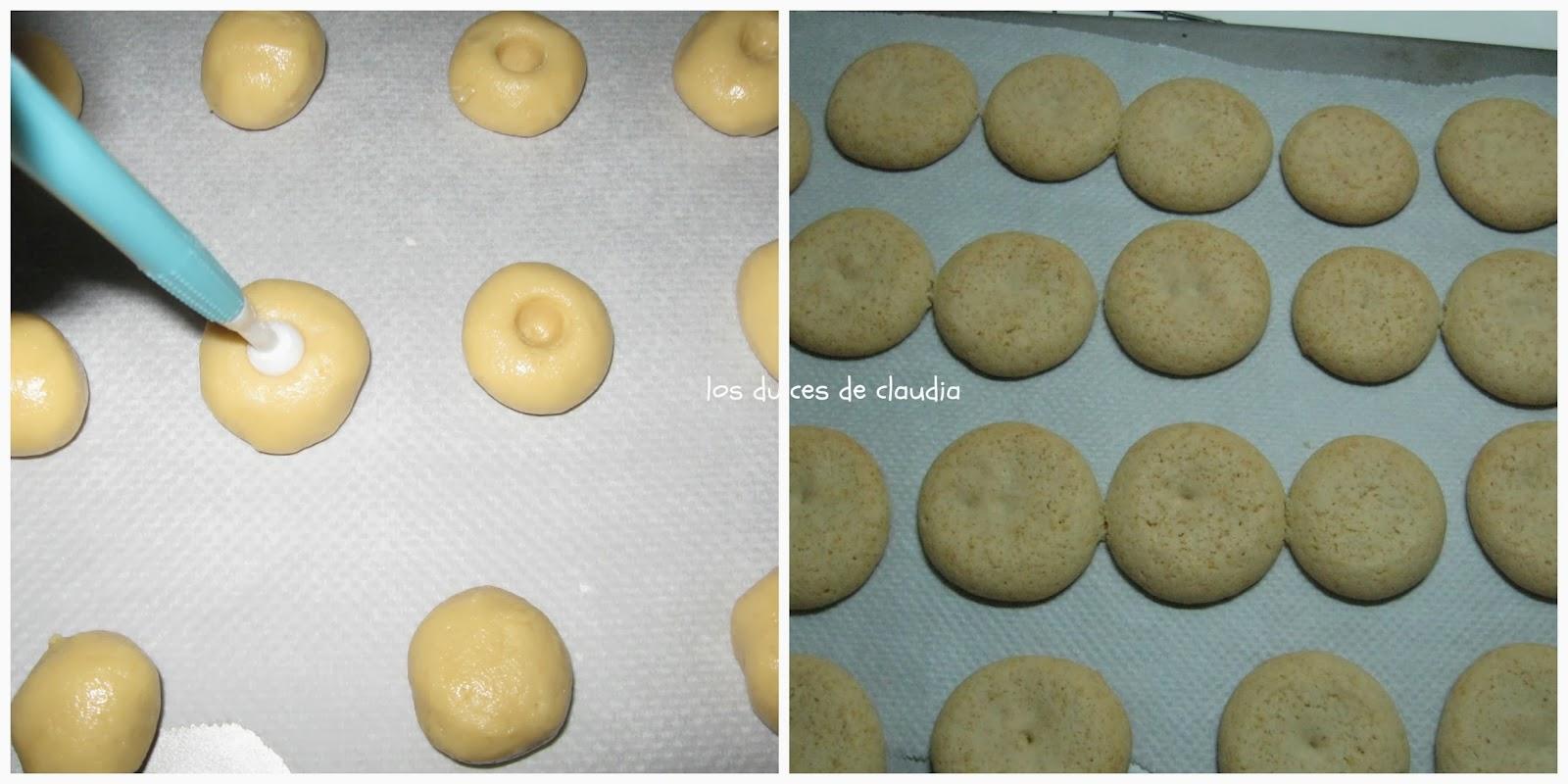galletas con mermelada de fresas