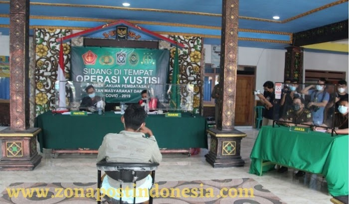 Gelar Operasi Yustisi Sidang Di Tempat, Kapolres Lumajang Lakukan Sanksi Tegas