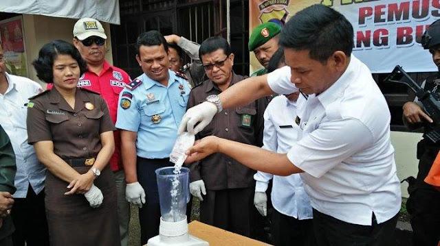 Polres Dairi Blender 56, 24 Gram Sabusabu yang Diselundupkan ke Rutan Sidikalang