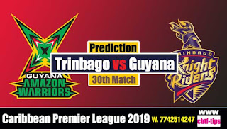 Who will win Today CPL T20 2019 30th Match Trinbago vs Guyana
