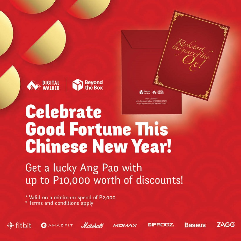 Get Ang Pao from Digital Walker and Beyond Box with deals up to ₱10,000!