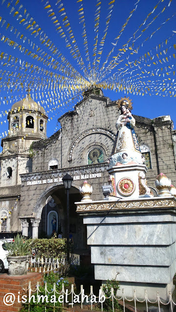 Image of Our Lady of the Abandoned in front of Our Lady of the Abandoned Church in Marikina CIty