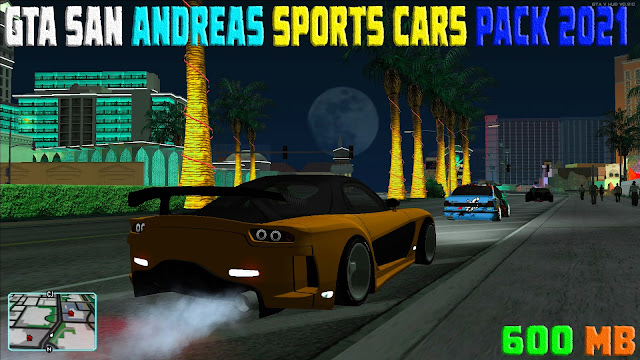 GTA San Andreas Complete Sports Cars Pack 2021