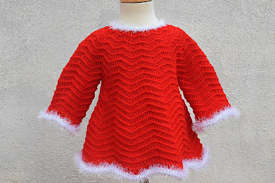 5 - Crochet Imagenes Mangas para vestido rojo navidad a crochet y ganchillo por Majovel Crochet