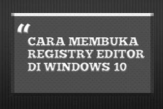 Registry Editor di Windows 10