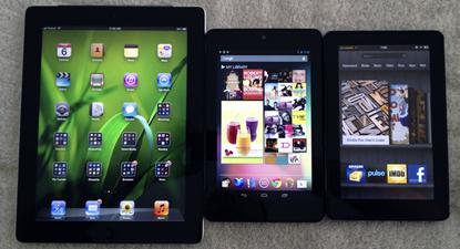 iPad, Samsung Galaxy, Google Nexus or even Kindle