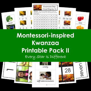 Montessori-inspired Kwanzaa Printable Pack II