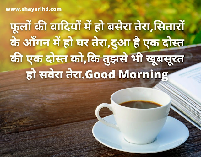 Good Morning Shayari image in Hindi for girlfriend