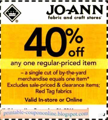 Joannfabrics com coupons