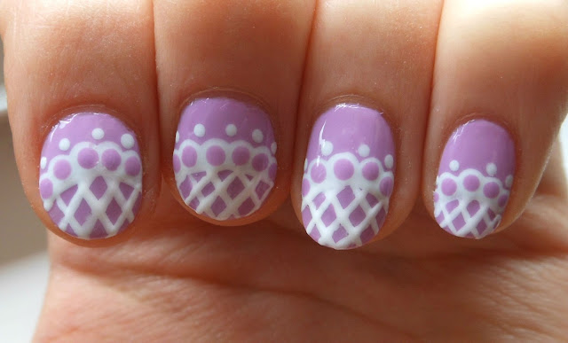 Holy Grail Nails: How-To: Elegant Lace Nail Art