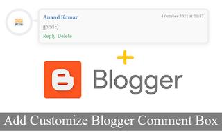 Customize Blogger Comment Box