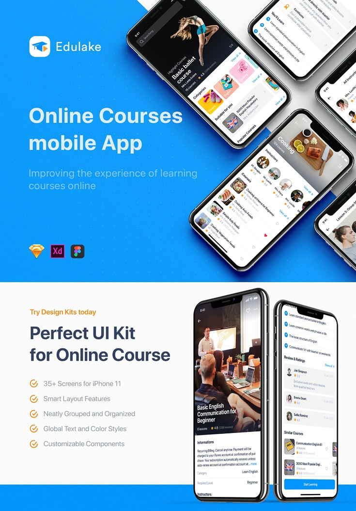 Online Course UI Kit