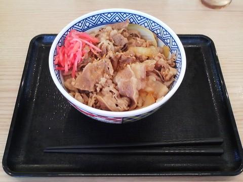 牛丼(並盛)¥380-1 吉野家岐阜羽島店