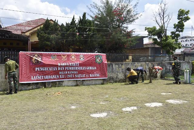 Mantapkan Sinergitas, Taruna Latsitardanus 41 dan Masyarakat Renovasi Gereja, Masjid dan Rumah