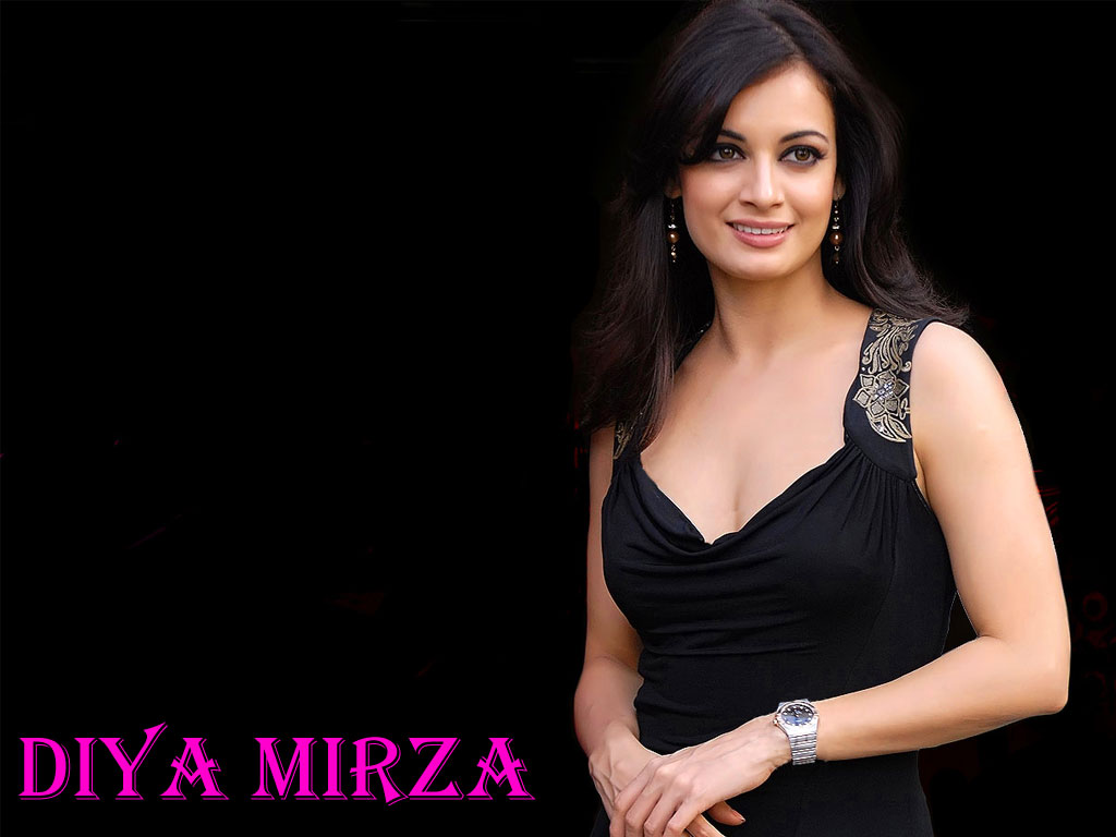 Bollywood Diya Mirza Hot Wallpapers - Enjoy Nudity-3961