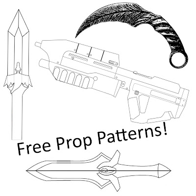 Free prop and cosplay patterns
