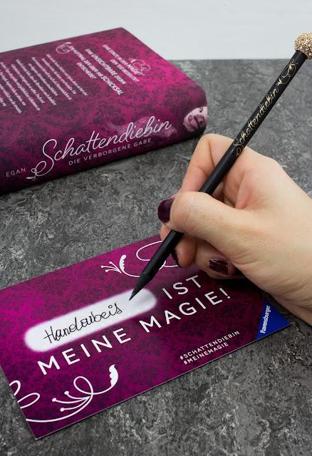 Schattendiebin von Catherine Egan, erscheinen im Ravensburger Buchverlag - Handarbeit ist meine Magie