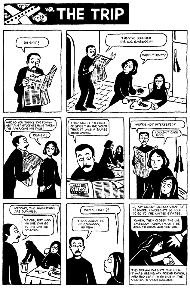 Read Chapter 10 - The Trip, page 70, from Marjane Satrapi's Persepolis 1 - The Story of a Childhood