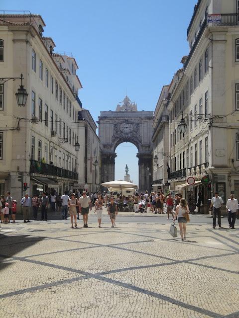 Rua Augusta e seu calçadão - Lisboa - Portugal