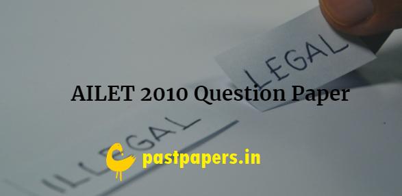 AILET 2010 Question Paper