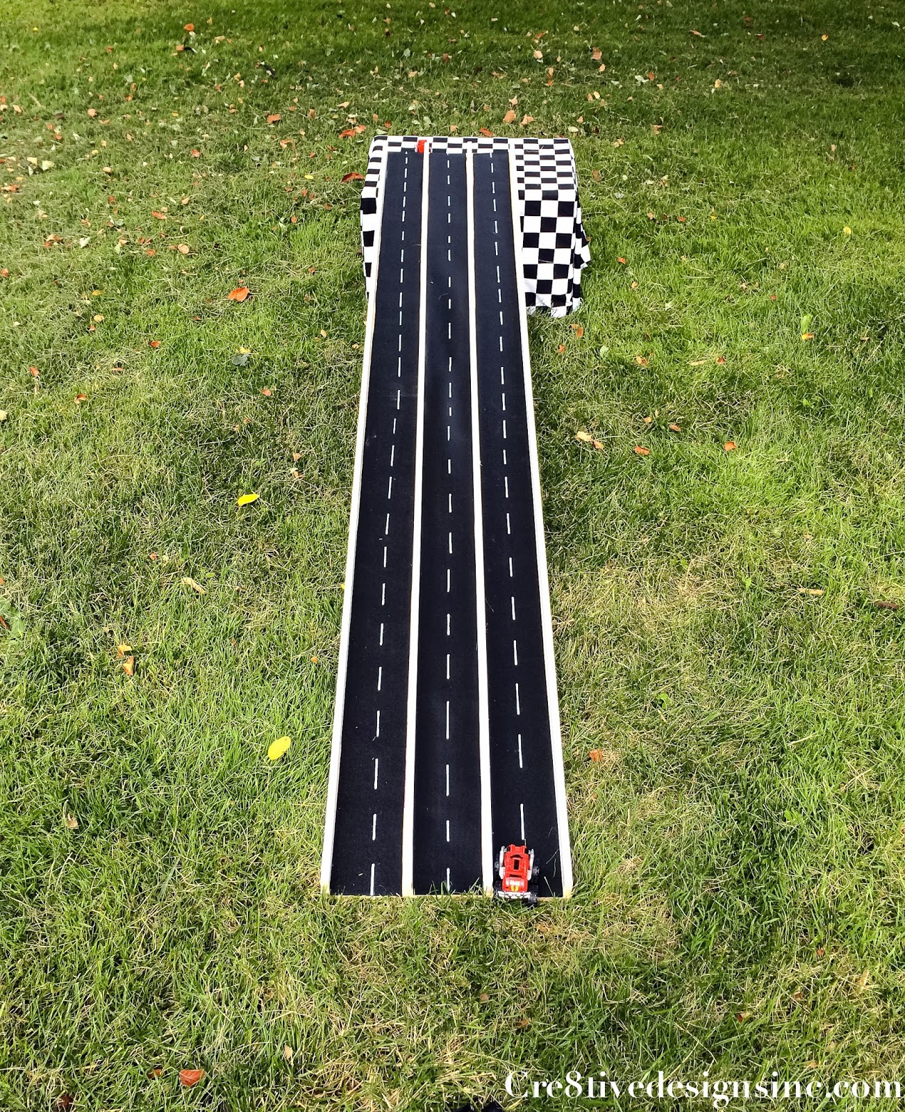 Backyard Projects for Kids: DIY Race Car Track - DO IT ...