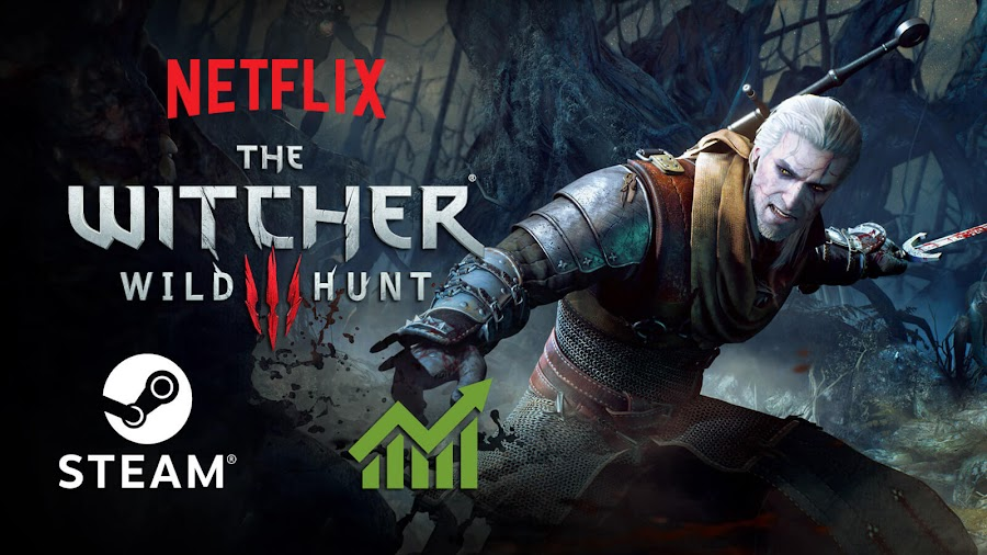 witcher 3 wild hunt steam player count increase pc netflix the witcher premiere cd projekt red