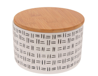 Decorative Storage Pot with Bamboo Lid