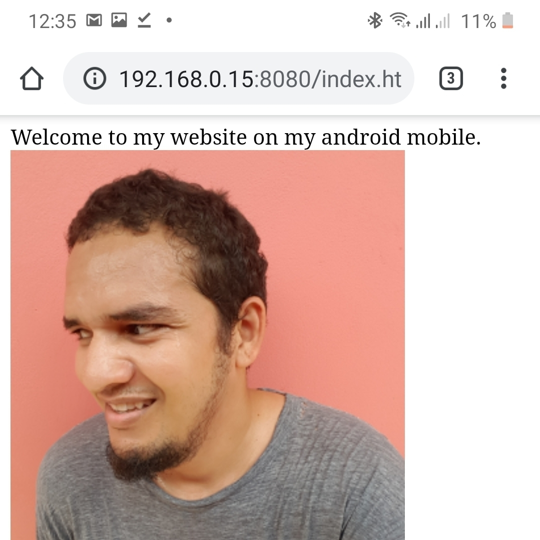 Web server on Android
