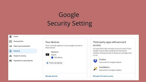 Google settings for make Live Conference effective.