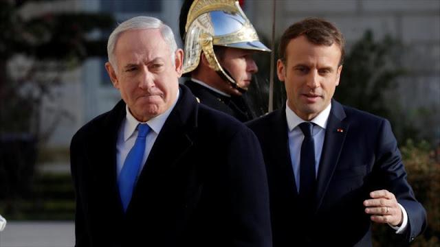"""Macron a Netanyahu: Decisión de Trump es """"peligrosa para la paz"""""""