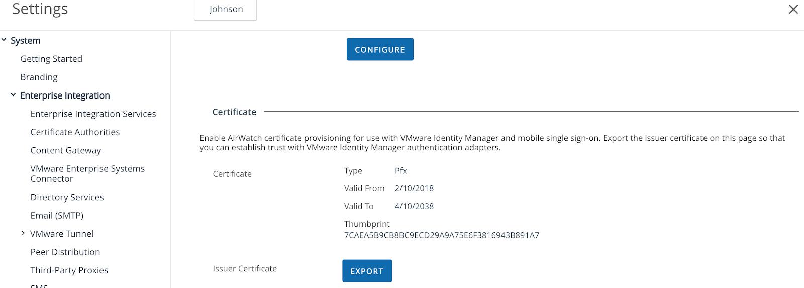 sso configuring ios airwatch certificate gooder even